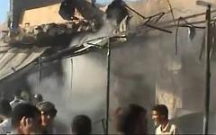 Взрыв на рынке в Ираке. Стоп-кадр с видео в YouTube