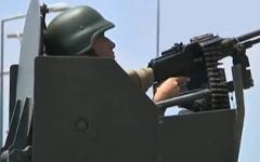 Турецкие войска на границе с Сирией. Кадр из видео на YouTube