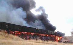 Пожар в поезде. Фото с сайта hoax-slayer.com