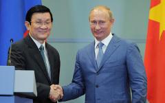 Президенты Вьетнама и России © РИА Новости, Алексей Дружинин
