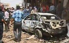 Последствия взрыва в Багдаде. Стоп-кадр с видео в YouTube