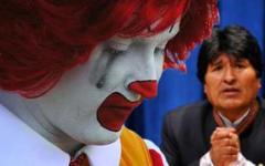 Рональд МакДональд и Эво Моралес. Фото с сайта remezcla.com