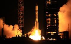Ночной запуск ракеты-носителя © РИА Новости, Олег Урусов