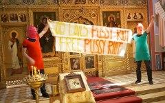 Акция в венском соборе. Фото с сайта facebook.com