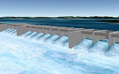 3D-модель плотины Бело Монте. Фото с сайта gearthblog.com