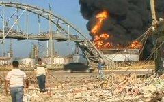 Пожар на НПЗ. Кадр из видео телеканала Россия 24
