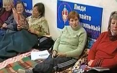 Голодовка бывших работников Амура. Кадр из видео ОТВ
