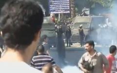Столковения в Каире. Кадр из видео на YouTube