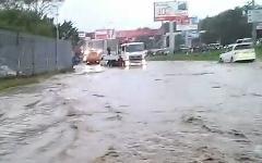 Тайфун во Владивостоке. Кадр из видео на YouTube