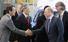 Путин на открытии завода во Владивостоке © РИА Новости, Виталий Аньков