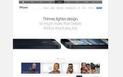 Скриншот сайта apple.com