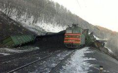 Авария на перегоне. Фото пресс-службы ГУ МЧС по Иркутской области