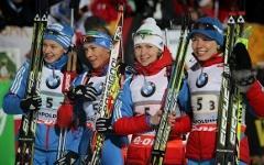 Женская сборная России по биатлону. Фото с сайта rusbiathlon.ru
