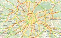 Пробки в Москве. Скриншот с Maps.yandex.ru.
