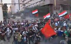 Беспорядки в Египте. Скриншот с видео в YouTube