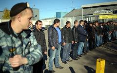 Задержание мигрантов в Западном Бирюлево © РИА Новости, Григорий Сысоев