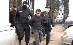 Орхан Зейналов во время задержания. Кадр с видео ГУ МВД РФ
