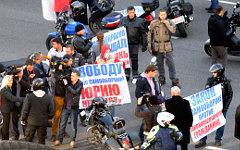 Акция байкеров на Садовом кольце © РИА Новости, Валерий Мельников