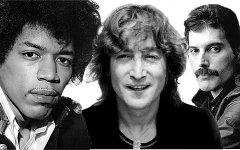 Дж.Хэндрикс, Дж.Леннон и Ф.Меркьюри. Коллаж © KM.RU