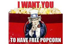 Купон на получение бесплатного попкорна