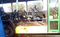 Подорванный автобус. Фото из«ВКонтакте»