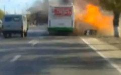 Момент взрыва автобуса. Кадр с видеорегистратора предоставлен СК РФ