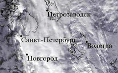 Облачность над Петербургом. Изображение с сайта planet.iitp.ru