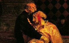 Фрагмент картины И.Репина «Иван Грозный и сын его Иван»