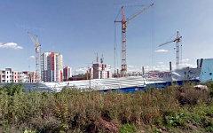 Строящиеся дома на ул.Любы Шевцовой в Красноярске. Фото сервиса Google Maps