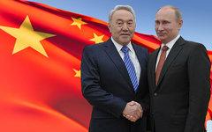 Нурсултан Назарбаев и Владимир Путин. Коллаж © KM.RU