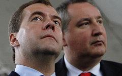 Дмитрий Медведев и Дмитрий Рогозин. Фото с сайта government.ru