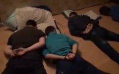 Задержание экстремистов. Кадр с видео в YouTube