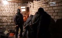 Задержание преступников. Кадр с видео ГУВД Минского горисполкома