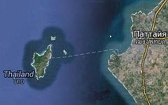 Остров Лан и Паттайя, Таиланд. Изображение сервиса Google Maps