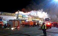 Пожар на рынке «Садовод». Фото с сайта mchs.ru