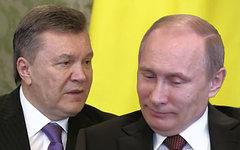 Виктор Янукович и Владимир Путин. Коллаж © KM.RU