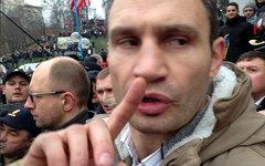Виталий Кличко на «евромайдане». Фото пользователя Твиттера lolwh00t