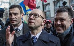 В.Кличко, А.Яценюк и О.Тягнибок © РИА Новости, Андрей Стенин