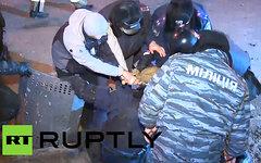 Задержания на «евромайдане». Кадр телеканала Russia Today