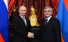 Владимир Путин и Серж Саргсян. Фото с сайта president.am
