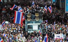 Демонстрация в Бангкоке. Фото пользователя Flickr Globovisión
