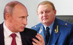 Владимир Путин и Сергей Бобров. Коллаж © KM.RU