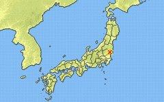Эпицентр землетрясения на карте. Изображение с сайта jma.go.jp