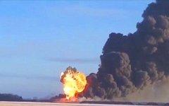 Место катастрофы. Стоп-кадр с видео в YouTube