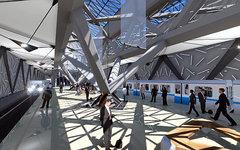 Проект станции метро «Саларьево». Фото ПКБ «Инжпроект» с сайта rosmetrostroy.ru