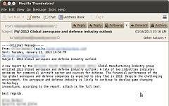 Электронное письмо, используемое хакерами. Фото с сайта symantec.com