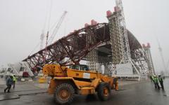 «Укрытие» Чернобыльской атомной электростанции © РИА Новости, Григорий Василенко
