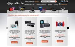 Скриншот сайта gradiente.com.br
