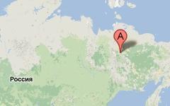 Эпицентр землетрясения. Изображение с сайта maps.google.ru