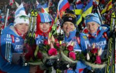 Женская сборная России по биатлону. Фото с сайта biathlonrus.com